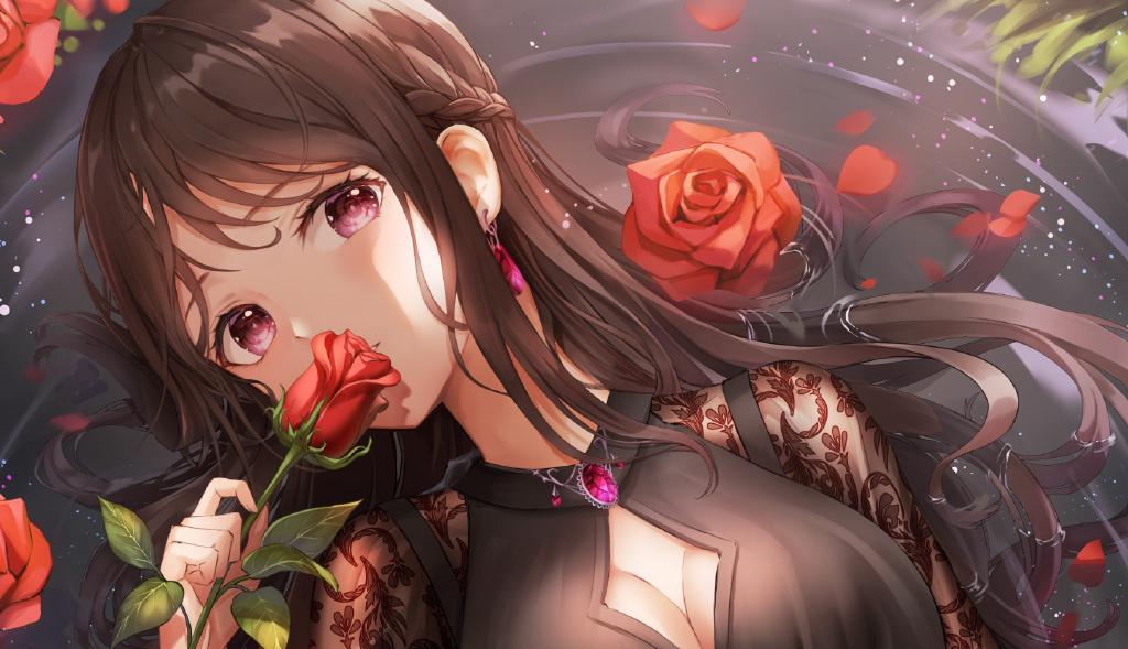 【P站画师】黑长直、金发和白发都很美!韩国画师Lunacle的插画作品